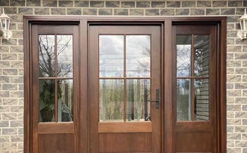 Entrées de bois extérieure  Menuiserie de lEstrie ~ Porte Entree En Bois